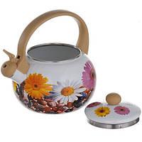 Набор кастрюль A-PLUS 3 кастрюли и чайник 2,2 л (3472) Эмаль