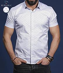 Стильна класична чоловіча сорочка з короткими рукавами виробництво Туреччина,С,М,Л,ХЛ