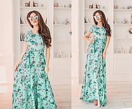 Льняное платье в цветок, фото 2