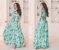 Льняное платье в цветок, фото 3