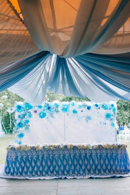 Нежно голубая свадьба в ресторане Рейкартц 3
