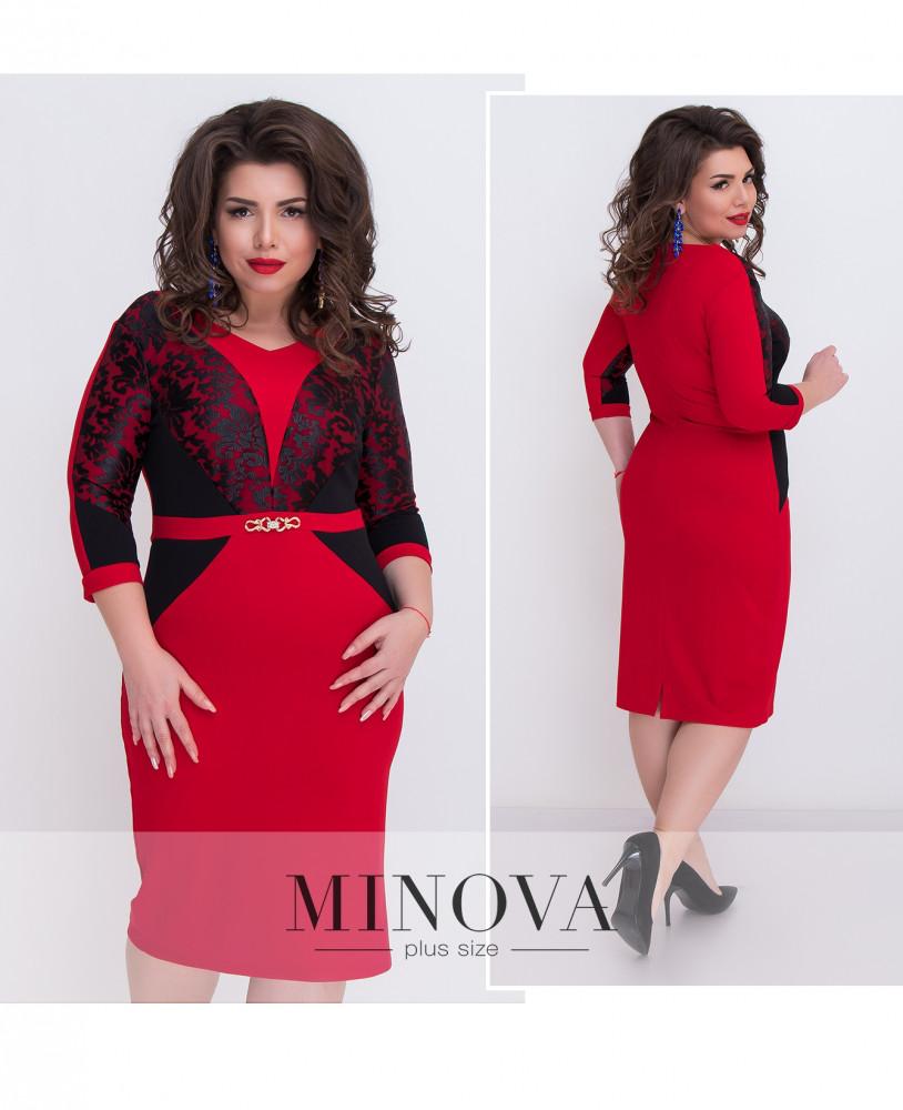 Платье женское №1213 красный