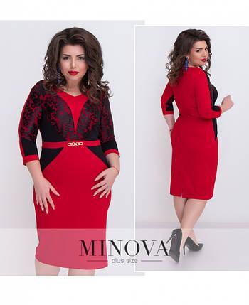 Платье женское №1213 красный, фото 2