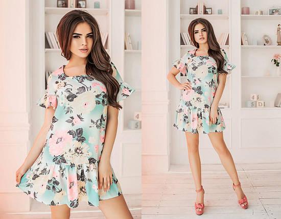 Короткое льняное платье, фото 2