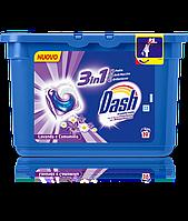 Стиральные капсулы Dash ecodosi pods 3in1 lavanda e camomilla 19шт