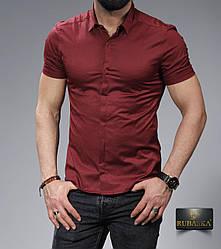 Стильная бродовая классическая мужская рубашка с короткими рукавами производство Турция,С,М,Л,ХЛ