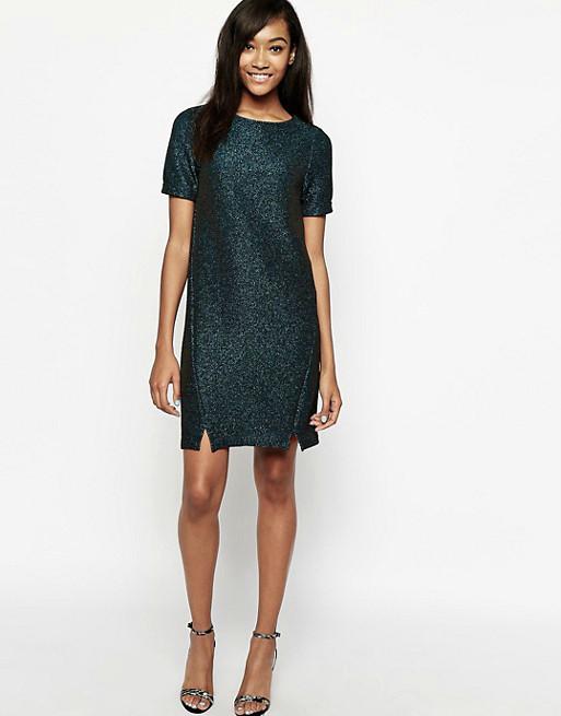 Новое блестящее прямое платье сWarehouse