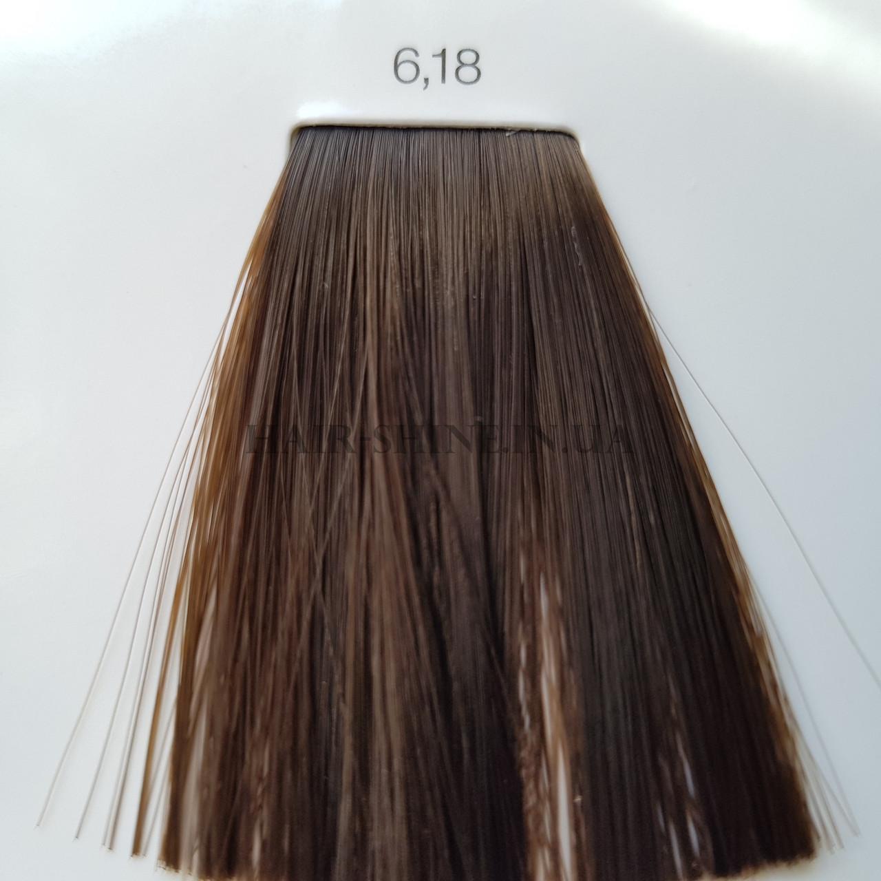 Краска без аммиака 60 мл  L'Oreal Professionnel Inoa 6.18  темный блондин пепельный мокка