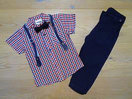 Нарядный костюм для мальчика с бабочкой и подтяжками Турция р. 1, 2, 3, 4, 5