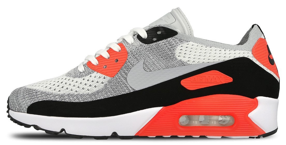Мужские кроссовки Nike Air Max 90 Flyknit Infrared