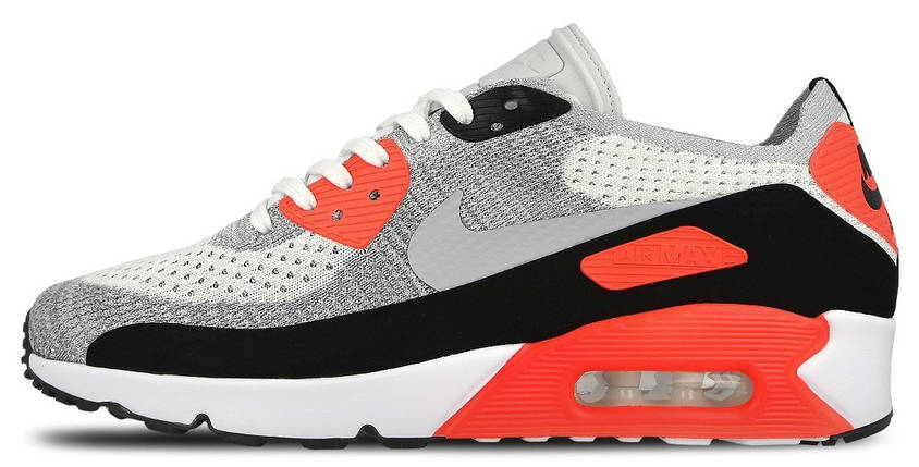 Мужские кроссовки Nike Air Max 90 Flyknit Infrared, фото 2
