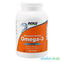 NOW Omega-3 (500 капс) рыбий жир омега 3 нау