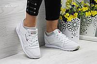 Кроссовки женские в стиле Reebok Classic Leather since 1983 SD-4027 Белые