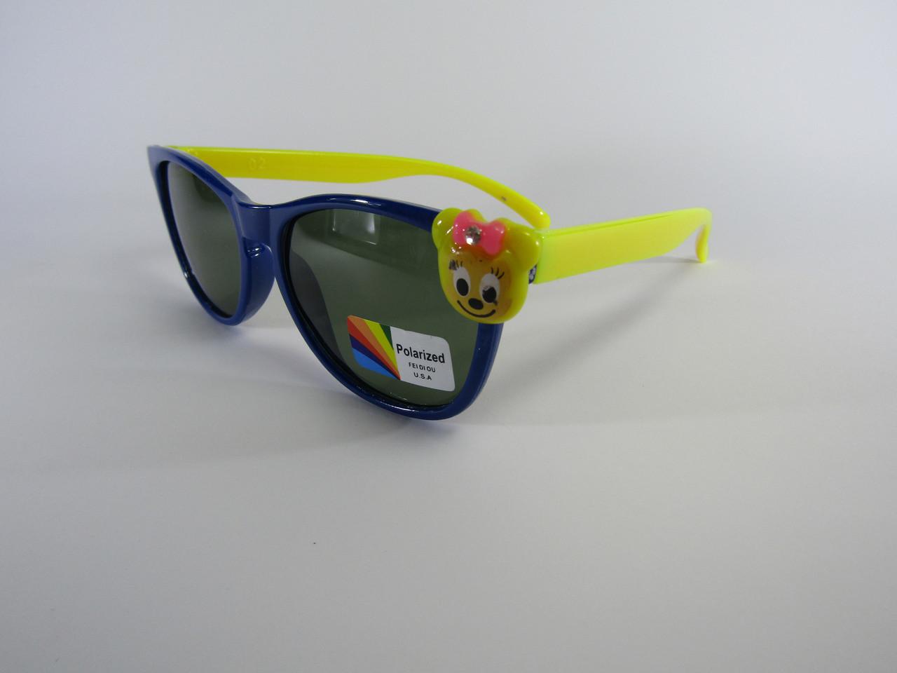 Дитячі окуляри Ведмедик Сині 02