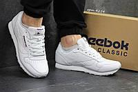 Кроссовки мужские в стиле Reebok Classic SD-4254 Материал натуральная кожа. Белые