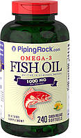 Рыбий жир OMEGA 3 FISH OIL 1000mg (Lemon Flavor) 240 капсул