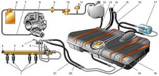 Деталі паливної і вихлопної системи автомобіля
