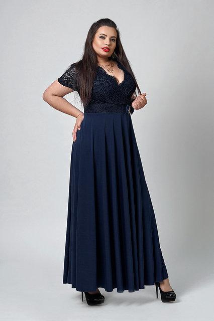 Женское платье с короткими рукавами из микродайвинга 52,54