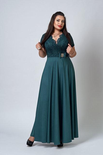 Женское платье с короткими рукавами из микродайвинга 52