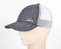 Кепка сетка котик 6кл Adidas серый, фото 1