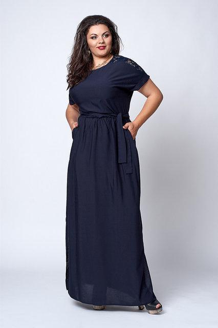 Женское платье с короткими рукавами из штапеля 52,54,56,58