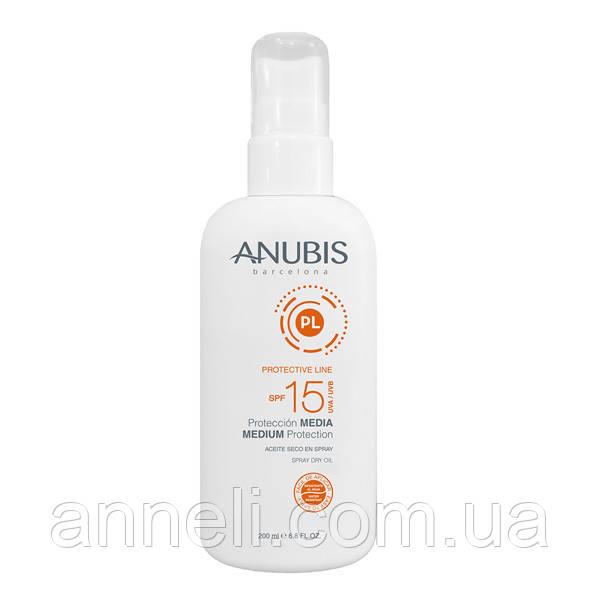 Солнцезащитное мерцающее сухое масло для тела и волос SPF 25 /Medium Protection SPF15 Anubis 200 мл