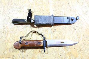 Штык нож АКМ 6х3 Макет массогабаритный (ручка-круглый бакелит, ножна-металл)