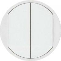 68002 Лицьова панель 2-клавішного вимикача, білий Legrand Celiane