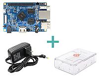 Orange Pi PC. H3 Quad-Core. 1GB DDR3 в комплекте с блоком питания и корпусом