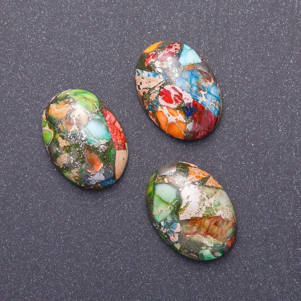 Кабошон Варисцит разноцветный 1,8х2,5см