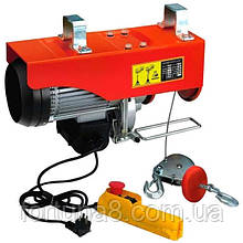 Електротельфер FPA1000 , без блока/через блок 500/990 кг, потуж. 1600Вт, швид. під-му 8/4 м/хв, вис. під-му 12