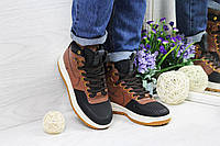 Кроссовки женские в стиле Nike Lunar Force LF1 код товара SD1-4524 Материал натуральная кожа,подошва резина.Коричневые