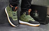 Кроссовки мужские в стиле Nike Lunar Force LF-1 код товара SD1-4528 Материал натуральная кожа,подошва резина. Зеленые
