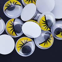 Глазки Для Игрушек, Живые, Круглые, Цвет: Желтый, Размер: Диаметр 12мм, (УТ0004230)
