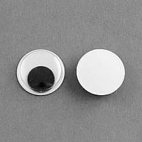 Глазки Для Игрушек, Живые, Круглые, Цвет: Черный, Размер: Диаметр 9мм, Толщина 3мм, (УТ100009534)