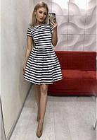 Платье женское короткое коттоновое в полоску P9506