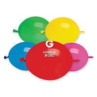 """Воздушные латексные шары Линколуны GL6 6""""(16см) Пастель Ассорти В упак:100 шт."""