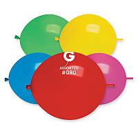 """Воздушные латексные шары Линколуны GL13 13""""(33см) Пастель Ассорти В упак:100 шт."""