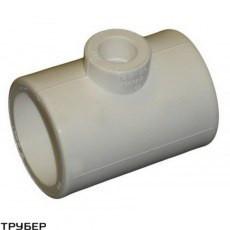 Тройник редукционный 75*50*75 полипропилен KALDE (серое)