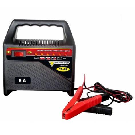 Зарядний пристрій Forte CA-4B, 220 В, зарядний струм 4 А, для акумуляторів 12 В ємністю 35-60 Аг, вага 1,6 кг, фото 2