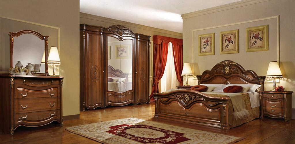 Спальня Джаконда с 4-х дверным шкафом СлонимМебель орех