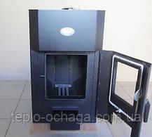 Печь твердотопливная Огнев ПОВ-200 со стеклом, фото 2