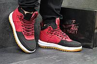 Кроссовки мужские в стиле Nike Lunar Force LF-1 код товара SD1-4526 Материал натуральная кожа,подошва резина. Крассные