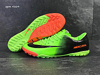 Сороконожки мужские в стиле Nike Mercurial код товара SD-4809. Салатовые с  черным 43 3384803282b