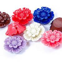 Бусины из Смолы, Цветок, Цвет: Микс, Размер: 20х7мм, Отверстие 1мм, (УТ100005994)