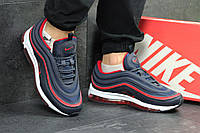 Кроссовки мужские в стиле Nike 97 код товара SD-4684. Темно-синие с красным