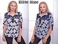 Блуза женская большого размера 50,52,54,56,58,60, фото 1