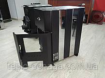 Печь отопительно-варочная Огнев ПОВ-150 с конфоркой и стеклянной дверцей, фото 3