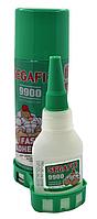 Двухкомпонентный супер клей SegaFiX , гель , 50mm с активатором 200mm
