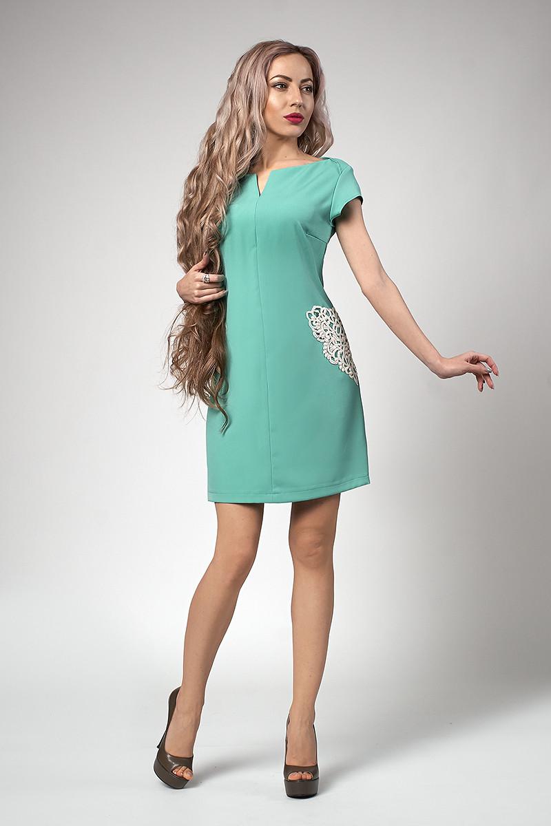Сукня мод №553-6, розміри 44,46,48 м'ята